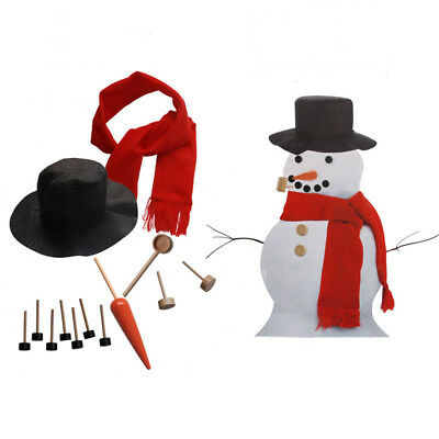 13X Snowman Decorating Kit 13 Pcs Making Building Set Holiday Winter Outdoor Use