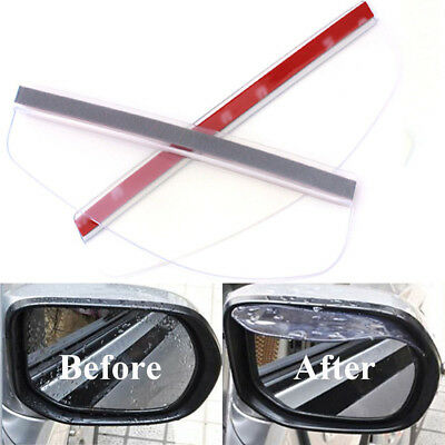 2pcs Universal Car Transparent Rearview Mirror Rain Board Sunvisor Shade Shield