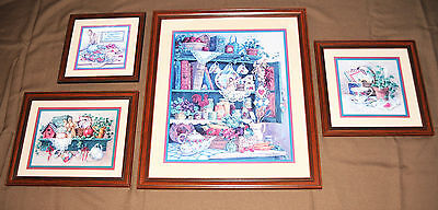 """Home Interiors~4 Piece Set~Large """"farmers Market"""" Picture Collection"""