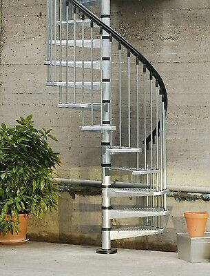 Spiral Staircase stairs ....Can Deliver IDEAL OUTDOOR or FACTORY MEZZANINE !