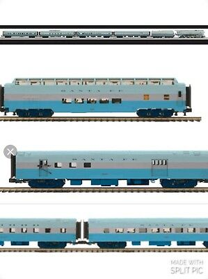 MTH Premier 20-3436-1 SF Blue Goose Loco Tender & 8 Pass cars PS3 NEW Free Ship