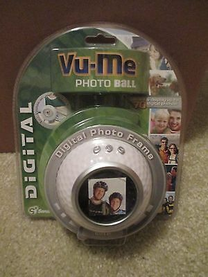 NIB Vu Me Photo Ball Digital Photo Frame Store/Display 70 Photos Golf Ball