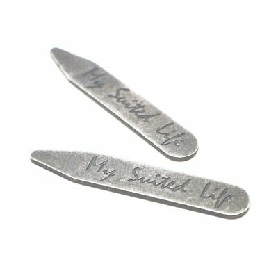 Antique Silver Collar Stays | 3 or 6 Pairs