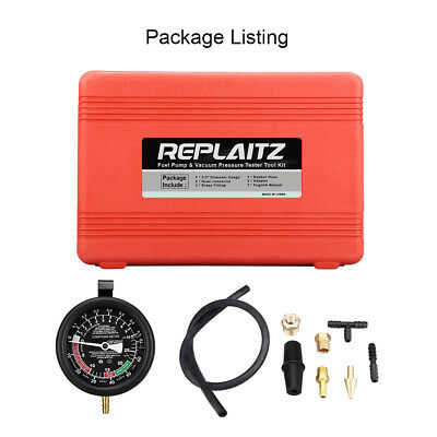 REPLAITZ Vacuum & Fuel Pump Compression Tester Kit Mechanical And Electrical