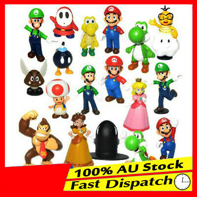 18pcs Super Mario Bros Action Figures Cake topper KidsToy Set figurines