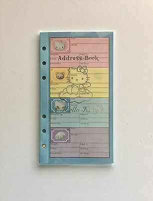 1999 sanrio hello kitty address phone book refill pages 256 entries