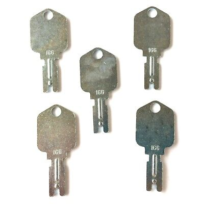 (5) Forklift Ignition Keys for Clark Crown Gradall Gehl Hyster Komatsu Yale #166
