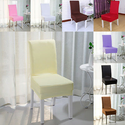 Dining Chair Covers Elastic Chair Seat Cover Stretch Protect Banquet Wedding Hot