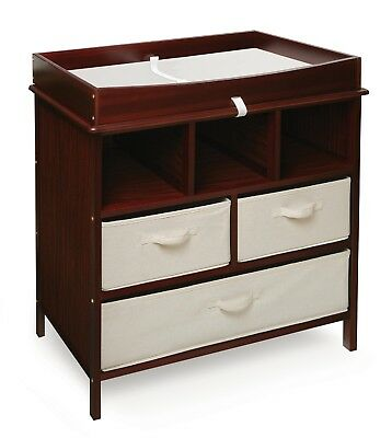 Estate Baby Infant Changing Table w/Three 3 Baskets Cherry Color NEW