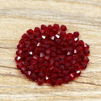 Swaro-element 5301# 4 mm Bicone Crystal bead 100 Pcs Dark red