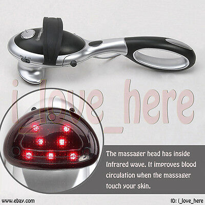 Removable Handheld Full Body Massager Vibrating Percussion Neck Infrared Heating
