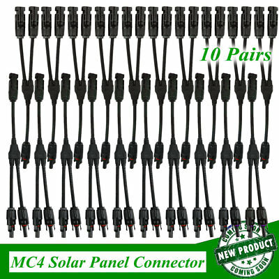 LOT 20X MC4 Solar Panel Connector 30A MMF FFM Power Wire Y Branch T Splitter HM