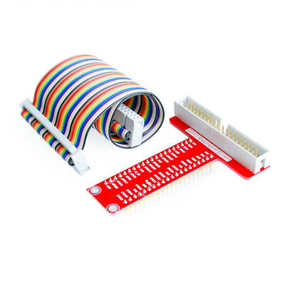 T GPIO For Raspberry Pi B+ 3 2 Breakout Expansion Board DIY Kit +40Pin Cable