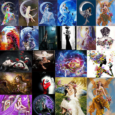 DIY 5D Diamond Painting Embroidery Beauty Wizard Cross Craft Stitch Kit Decor