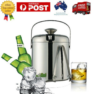 Ice Bucket Double Wall Insulated Stainless Steel Wine Cooler Beer whiskey Party