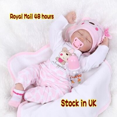 "Lovely REal Life Girl 22"" Reborn Baby Dolls Newborn Lifelike sleeping Toys Gifts"