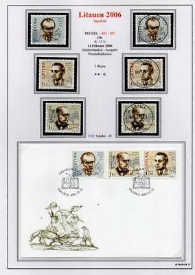 LITHUANIA 2006 MNH/USED-CTO/FDC SG874-76 Personalities