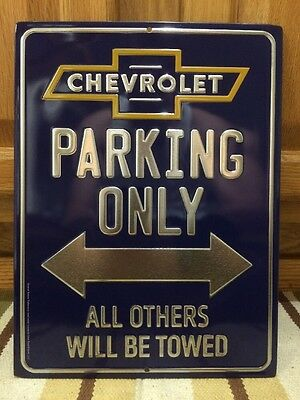 Chevrolet PARKING ONLY Metal Vintage Style Gas Oil Pump Silverado Camaro Nova
