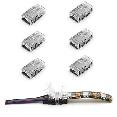WIRE TO STRIP CONNECTOR CLIP LED 8mm 10mm RGB-W 2Pin 3Pin 4Pin 5Pin PCB ADAPTER