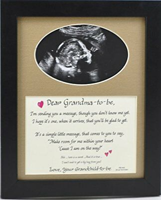 Grandma to Be Ultrasound Picture Frame 8x10 Sonogram Gift, Grandmother Choose -