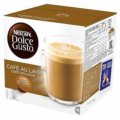 Nescafe Dolce Gusto Caf? Au Lait Pack of 3, Total 48 Capsules