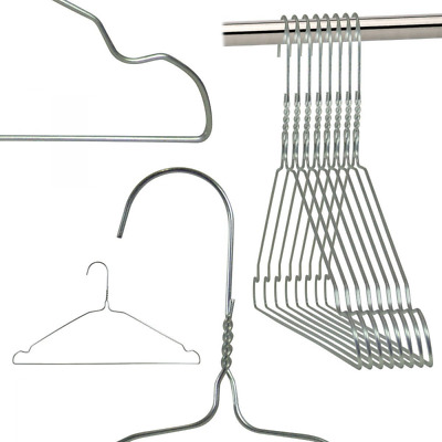 Hangerworld Lot de 100 Cintres en Métal à Barre Pantalon & Encoches 40 cm