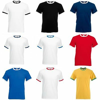 Fruit Of The Loom Mens Ringer Short Sleeve T-Shirt