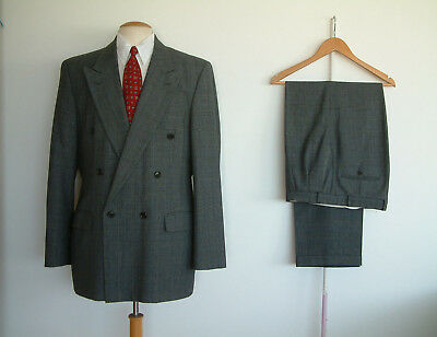 "1940's STYLE SUIT..TWIN PLEATS..PTU's..HIGH WAISTED..42"" x 36""..PRINCE OF WALES"