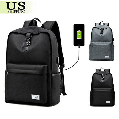 Anti-theft USB Charging & Cable Travel Backpack Laptop Notebook School Book Bag
