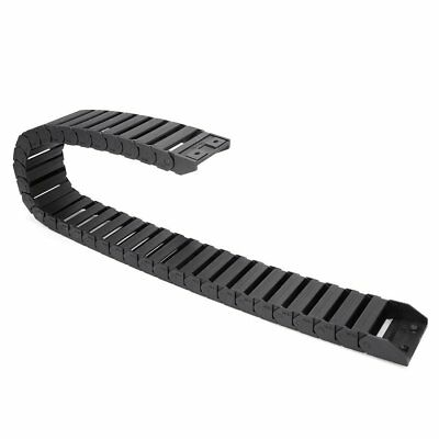 uxcell R28 15mm x 50mm Black Plastic Cable Wire Carrier Drag Chain 1M Length for