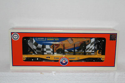 Lionel  #26654 Boy Scouts of America O27 Flat Car w/Pinewood Derby Kit
