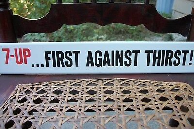 """7 UP Door Push / Sign """"First Against Thirst"""" NOS from 1965 """"Free Shipping"""""""