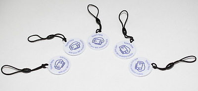 5 ZipNFC NFC Hang Tags NTAG213 white and blue Samsung Sony LG Galaxy android