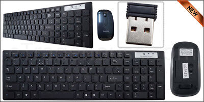 Slim Wireless Keyboard 2.4GHZ And Cordless Optical Mouse Combo For PC Laptop