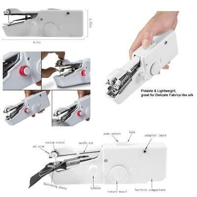 Sewing Machine Portable Mini Handheld Electric Household Quick Handy Stitch Tool