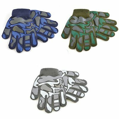 Childrens Boys Camo Design Winter Magic Gloves (GL294)