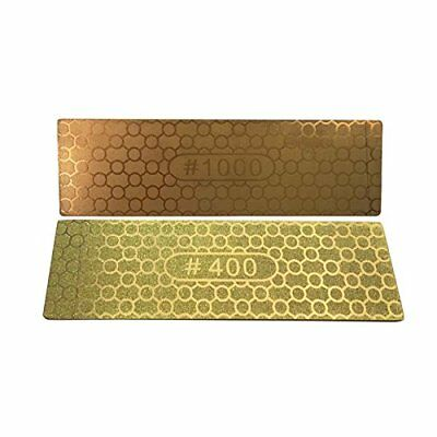 DMD Double sided 400 1000 Grit Diamond whetstone Sharpening Stone Kitchen Knives