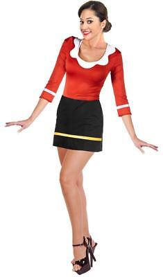 olive oyl oil mini popeye retro girl fancy dress up halloween sexy adult costume