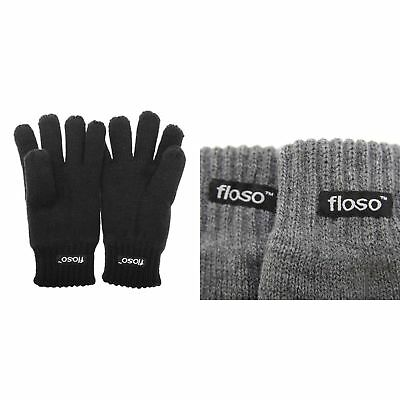 FLOSO Childrens Unisex Knitted Thermal Thinsulate Gloves (3M 40g) (GL236)