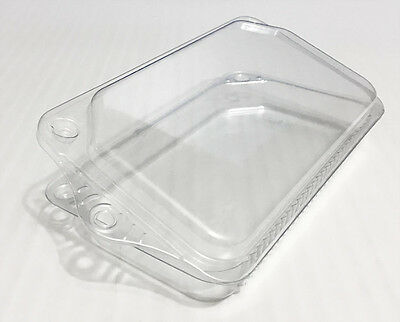 60 Lot - Clamshell Blister Packaging / Misc. Storage__Clear Hanging containers