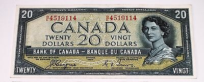 Canada 1954 20 Dollar Note Devil's Face Portrait Coyne Towers