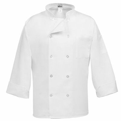 Fame Adults 10 Button Chef Coat -White-3XL