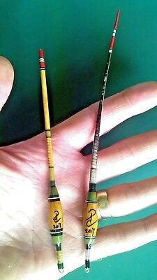 Cork Cane & Quill Gudgeon Antenna Fishing Float match Split Cane Rod & Centrepin