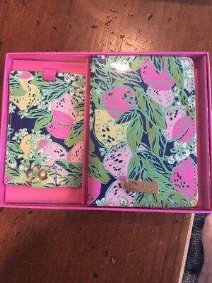 NIB Lilly Pulitzer Travel Set Passport Cover Luggage Tag