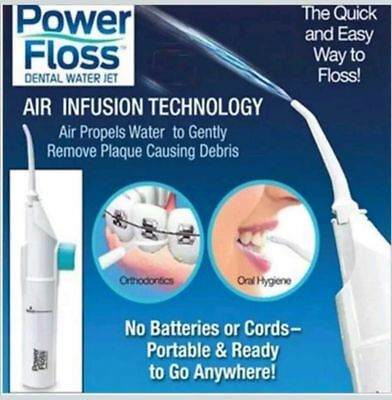 Power Floss Dental Water Jet As Seen on TV Teeth Braces Cleaner  Oral Hygiene UK