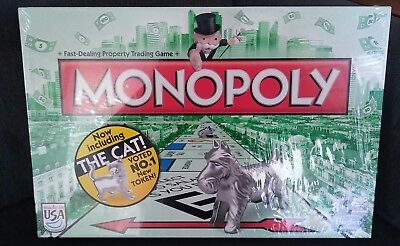 Monopoly Board Game Cat Token Included NEW SEALED