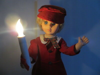 Christmas Animated Illuminated Figurines Telco Motion-ette  Boy Red Outfit 23""