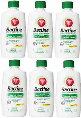 Bactine Original First Aid Liquid, 4 Ounce ( 6 Pack)