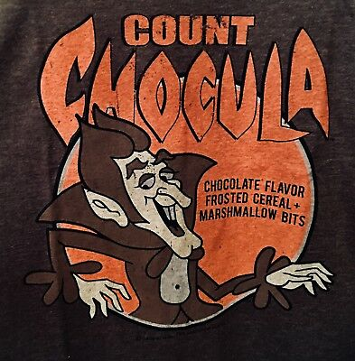 COUNT CHOCULA T-Shirt Mens Retro Distressed General Mills Chocolate Cereal