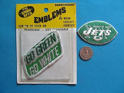 2 Rare Vintage New York Jets Nfl Football Patch Crest Emblem Lot